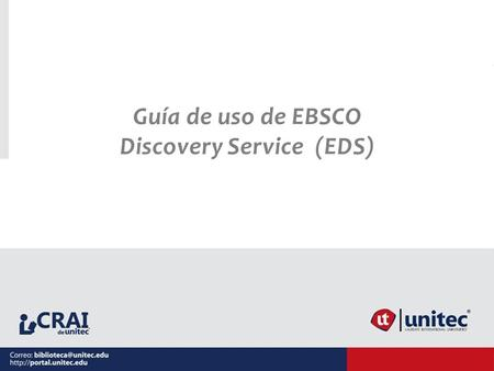 Discovery Service (EDS)