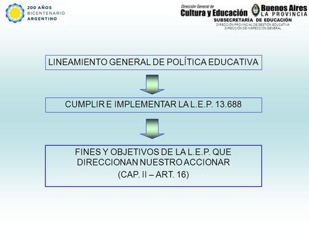 LINEAMIENTO GENERAL DE POLÍTICA EDUCATIVA