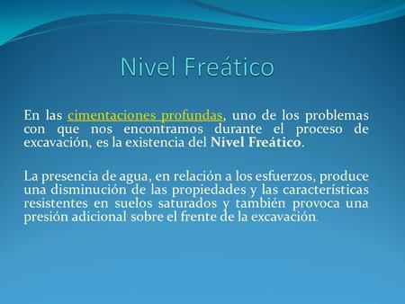 Nivel freatico en cimentaciones