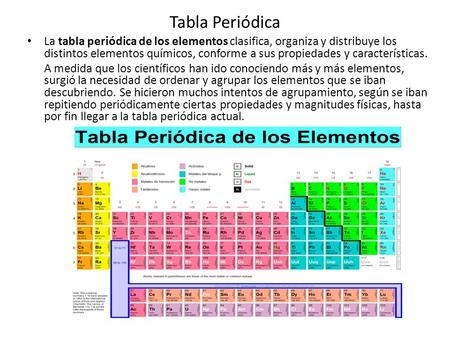 Tabla periodica cmo se construy ppt descargar tabla peridica la tabla peridica de los elementos clasifica organiza y distribuye los distintos elementos urtaz Gallery