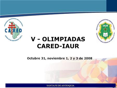 V - OLIMPIADAS CARED-IAUR