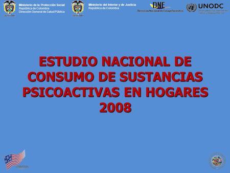 Sexta encuesta nacional sobre consumo de drogas en for Direccion de ministerio de interior y justicia