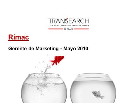 Rímac Gerente de Marketing - Mayo 2010.