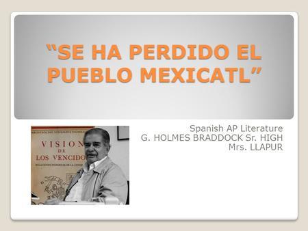 AP Spanish Literature: Wikis