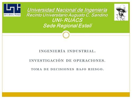 Universidad Nacional de Ingeniería Recinto Universitario Augusto C