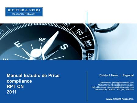 Manual Estudio de Price compliance RPT CN 2011