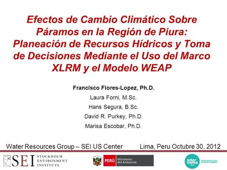 Francisco Flores-Lopez, Ph.D.