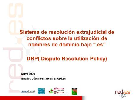 DRP( Dispute Resolution Policy)
