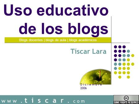 Uso educativo de los blogs