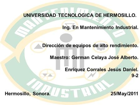 UNIVERSIDAD TECNOLOGICA DE HERMOSILLO.