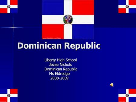 Dominican Republic Liberty High School Jevae Nichols