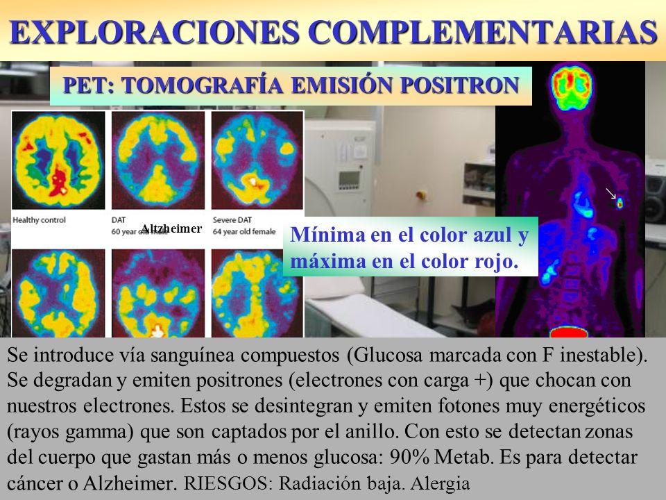 EXPLORACIONES COMPLEMENTARIAS Permite detectar diferentes temperaturas del cuerpo.
