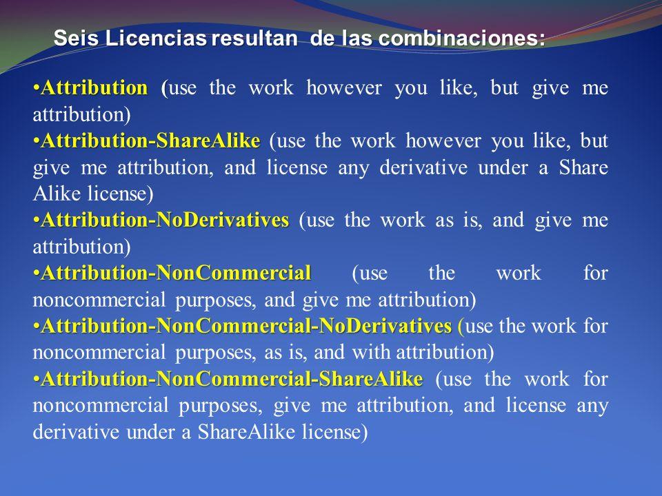 Pero Creative Commons también ofrece Licencias Para colocar en el dominio público obras propias.