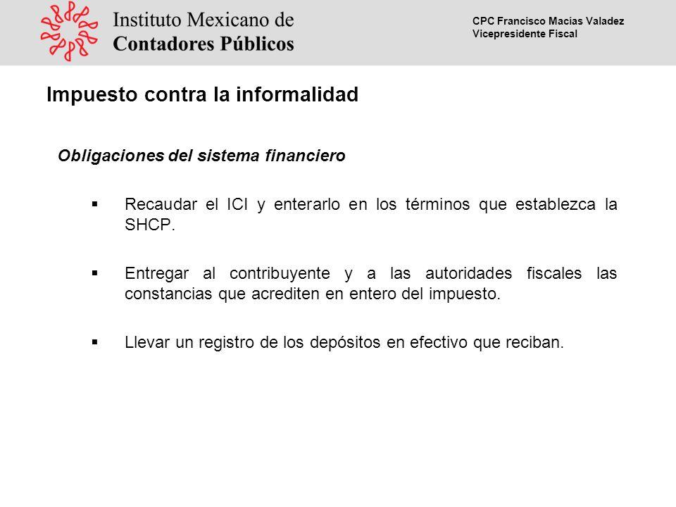 CPC Francisco Macías Valadez Vicepresidente Fiscal Acreditamiento del ICI efectivamente pagado El ICI efectivamente pagado podrá acreditarse contra: a)El pago provisional del ISR del mismo mes.