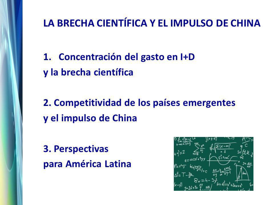 1. Concentración del gasto en I+D y la brecha científica