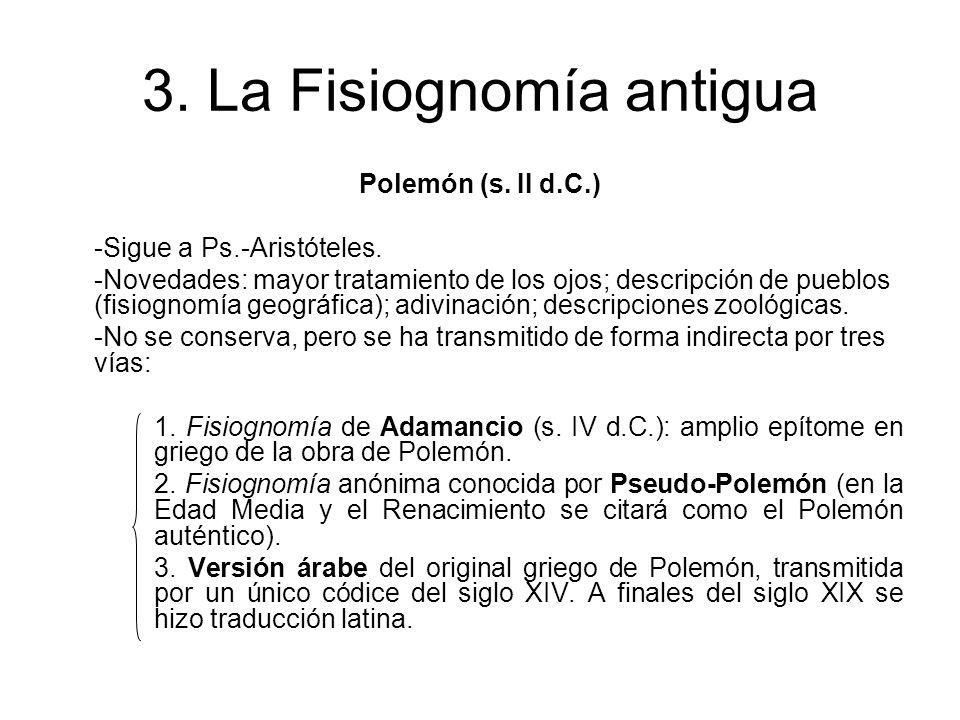 3.La Fisiognomía antigua Anónimo latino (s.