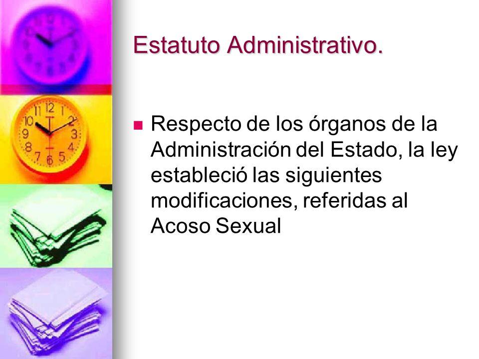 Estatuto Administrativo.
