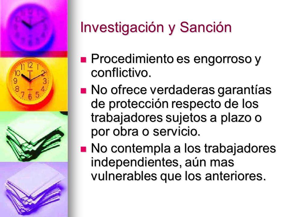 Investigación y Sanción.