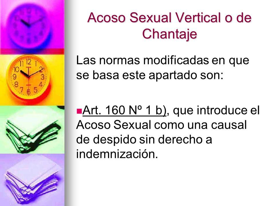 Acoso Sexual Vertical o de Chantaje Art.171 Inc.