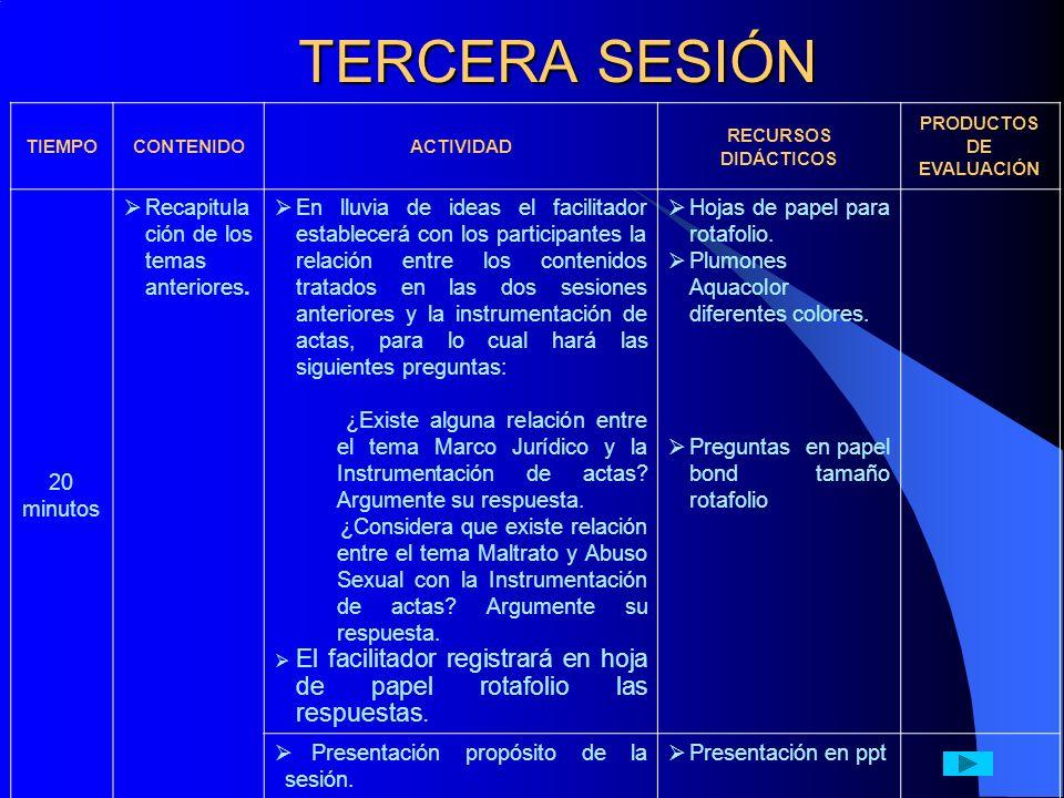 5 min.ACTA DE HECHOS.