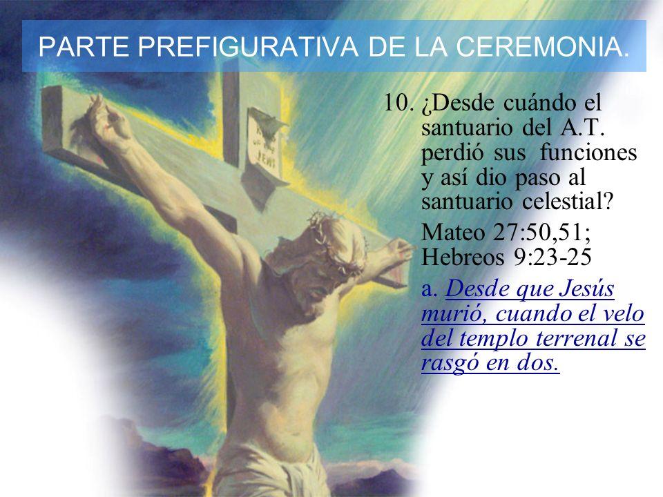 11.¿A dónde se registran ahora nuestros actos, por lo que hay una transferencia de nuestros pecados al santuario celestial.