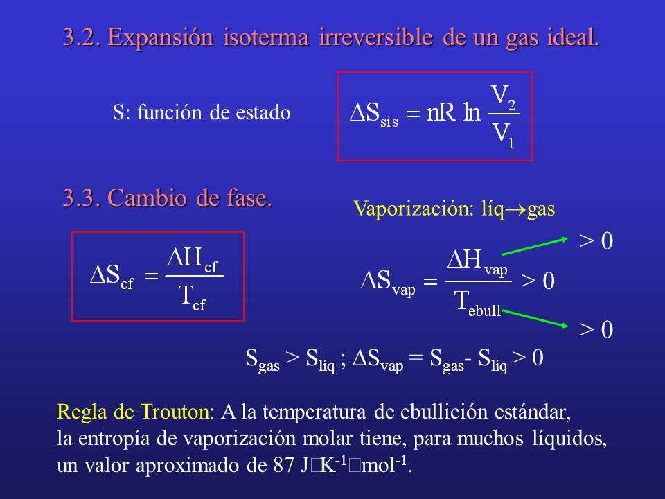 3.4. Cambio de temperatura. P = cte [Tema 3] Si C p = cte V = cte [Tema 3] Si C v = cte
