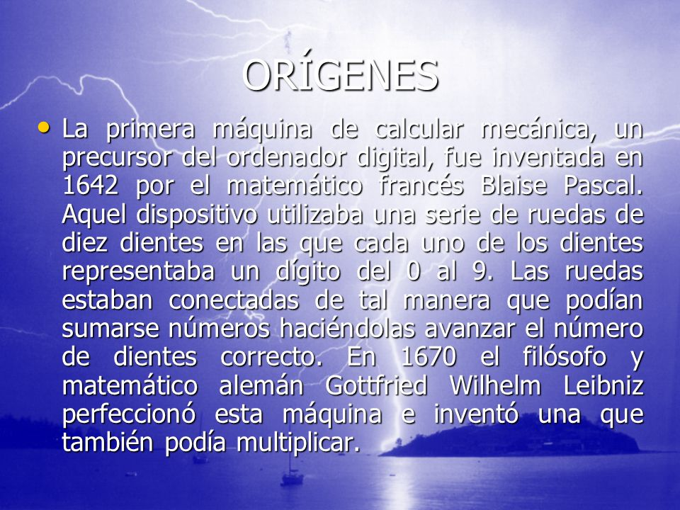 LOS PRIMEROS Los ordenadores analógicos comenzaron a construirse a principios del siglo XX.