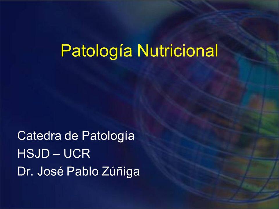 Deficiencias Nutricionales Malnutrición primaria Malnutrición secundaria Deficiencia de uno o varios componentes Malaabsorción Déficit en el uso o almacenamiento Excesiva pérdida de nutrientes Nutrición adecuada
