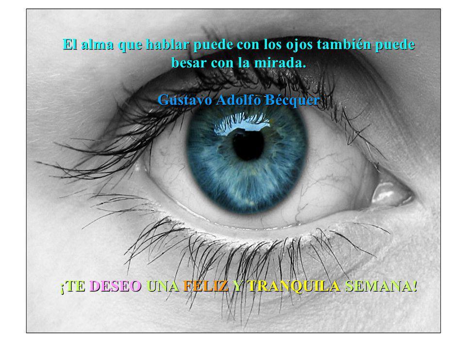 El alma que hablar puede con los ojos también puede besar con la mirada.