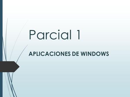 APLICACIONES DE WINDOWS