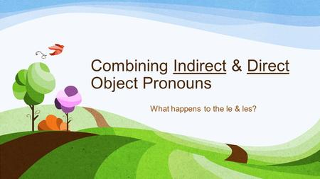 Combining Indirect & Direct Object Pronouns