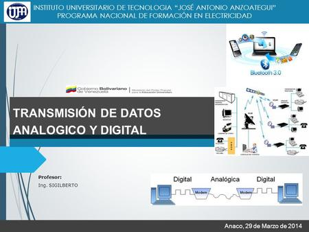 TRANSMISIÓN DE DATOS ANALOGICO Y DIGITAL