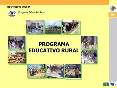 SEP /DGETA/DGEST Programa Educativo Rural PROGRAMA EDUCATIVO RURAL.