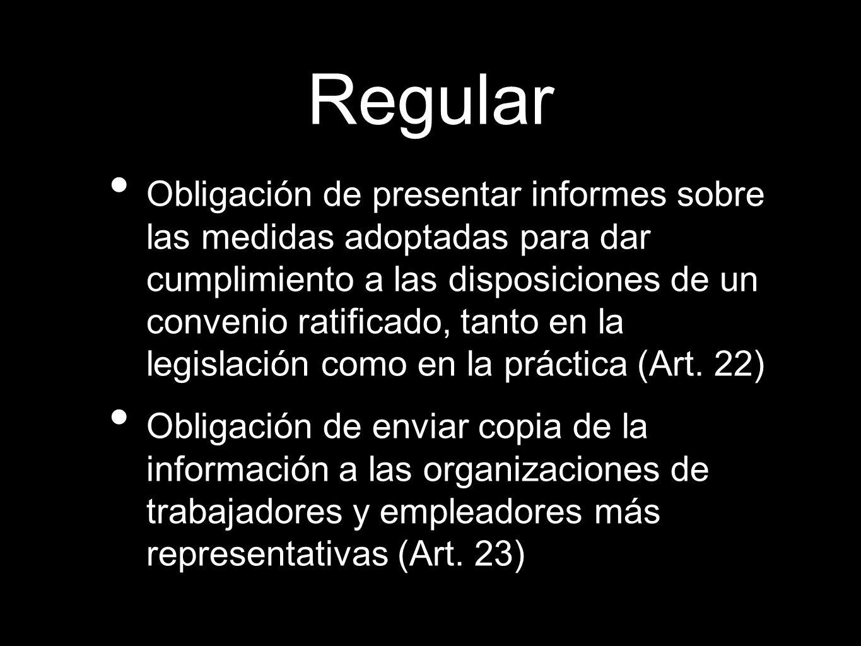 Procedimiento Informaciones y memorias de los Gobiernos Comentarios de los Trab.