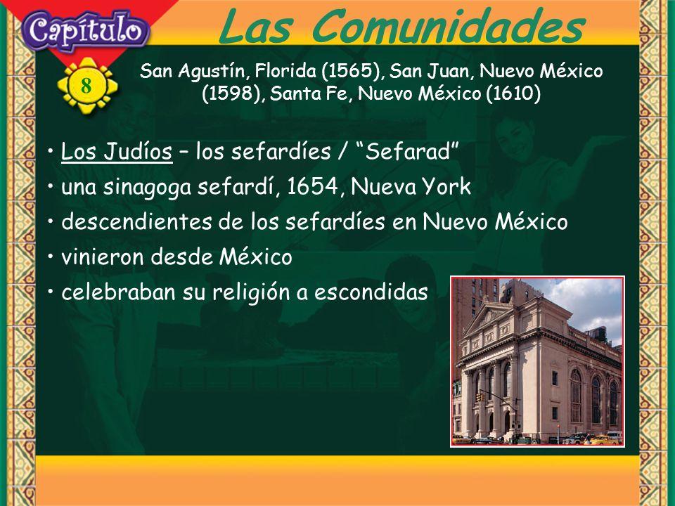8 Las Comunidades Los Españoles – siglos XIX y XX - inmigrantes la Guerra Civil Española, 1936 - 1939 mucha devestación y hambre en España Los Mexicanos – había mexicanos aquí antes de EE.UU grandes áreas del suroeste después de la revolución -- 1910 – 1920 Texas, Arizona, Nuevo México y California la política norteamericana de la inmigración… más de la mitad de los latinos (40 m) son mexicanos