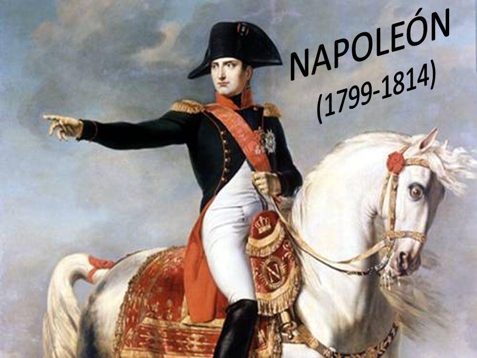 Napoleón llega al poder -Se declara cónsul único y vitalicio -Nueva constitución: sufragio para ricos, anula derechos humanos -Represión contra los jacobinos