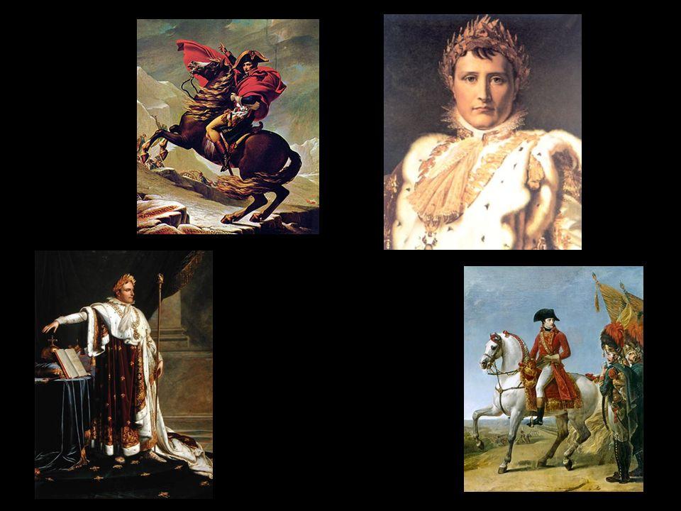 -En 1804 es coronado emperador, asumiendo así todos los poderes e implantando una especie de dictadura, controlando con mano de hierro el orden público -Reformó el comercio, y los códigos civil y penal LA FRANCIA DE NAPOLEÓN