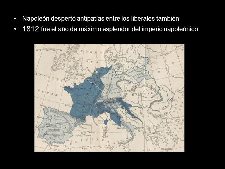 1813 fracasó en Rusia y se formó una gran coalición europea 1814 las fuerzas europeas toman París y Napoleón es destituido y enviado a la isla de Elba