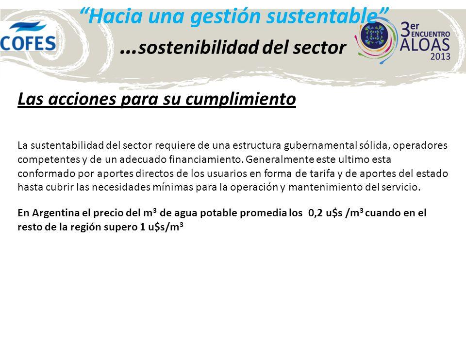 Hacia una gestión sustentable … sostenibilidad del sector