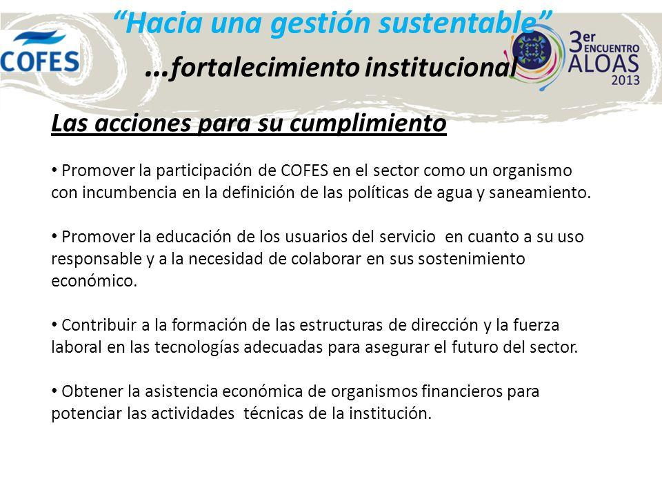 Hacia una gestión sustentable Muchas gracias !!! Ing. Sebastian Paz Presidente www.cofes.org.ar