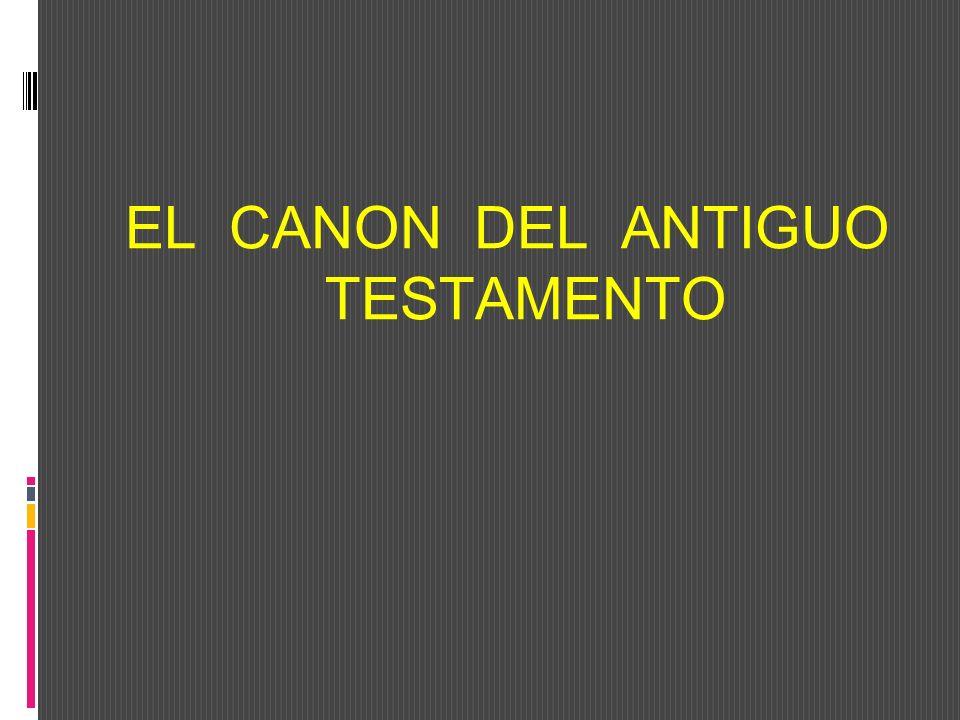 DEFINICIÓN DE CANON Canon, procede del hebreo qaneh---Tiene el significado de; caña, junco.