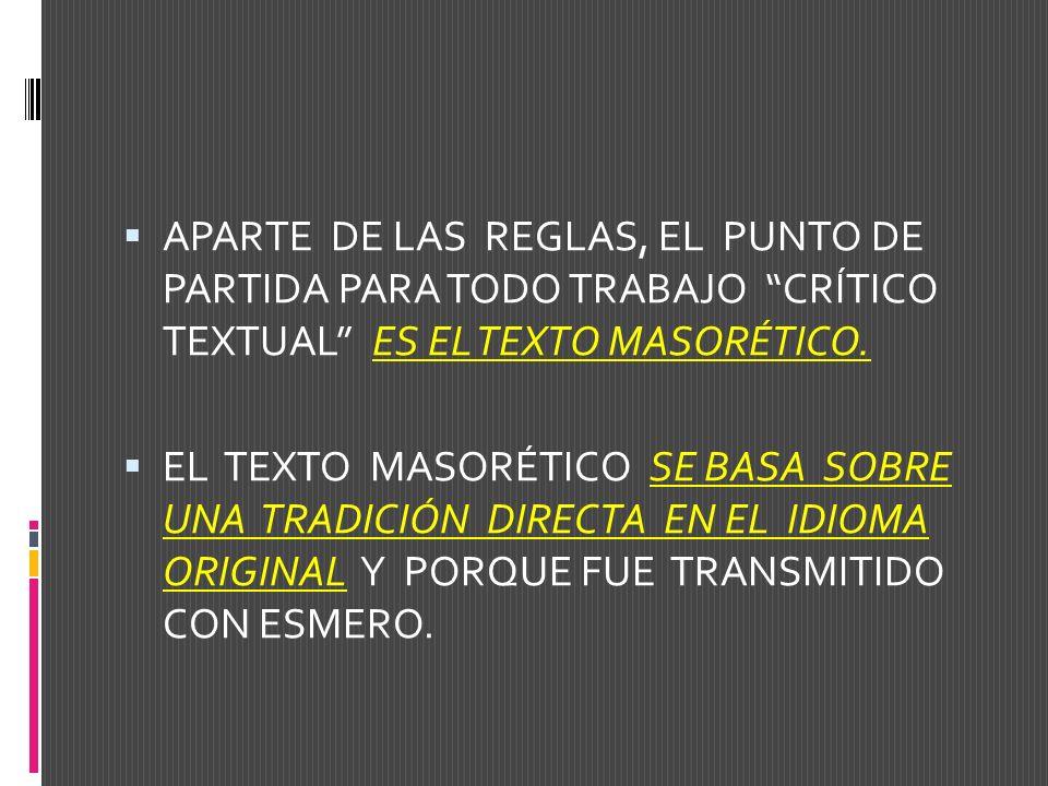 EN EL ANÁLISIS CRÍTICO TEXTUAL DEL N.T.