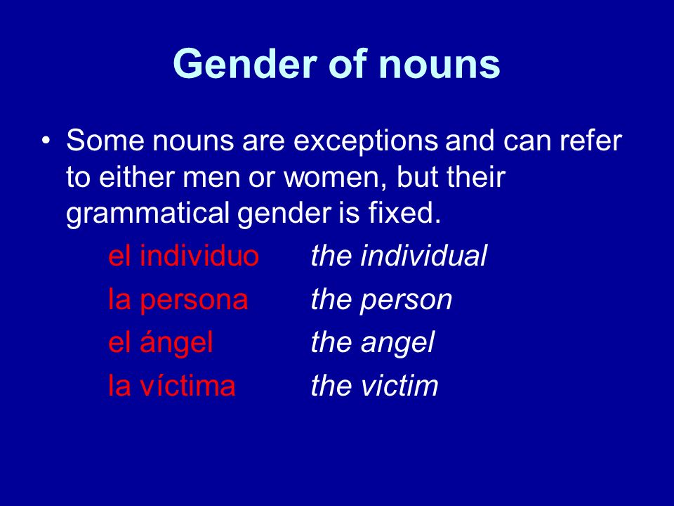 Gender of nouns Feminine nouns beginning with a stressed a sound use the articles el/un in the singular and las/unas in the plural el agua frescacool water las aguas frescascool waters un arma automática---an automatic weapon unas armas automáticassome automatic weapons