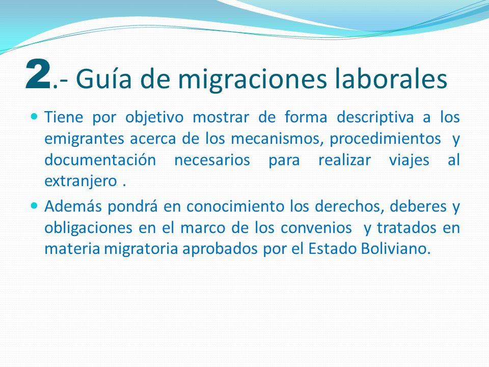 Será una herramienta para difundir los derechos fundamentales y obligaciones de los trabajadores migrantes en países de destino (Brasil, Argentina, Estados Unidos y España), incluirá gestión de tramites.