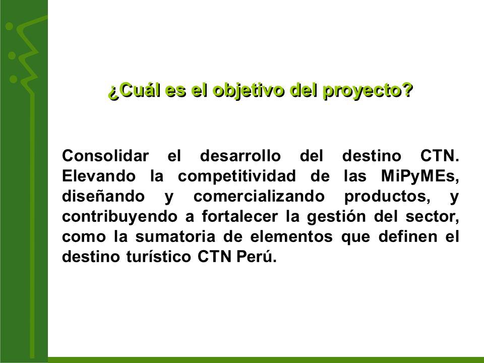 componentes del proyecto 1.Diseño de macroproductos turísticos sostenibles.