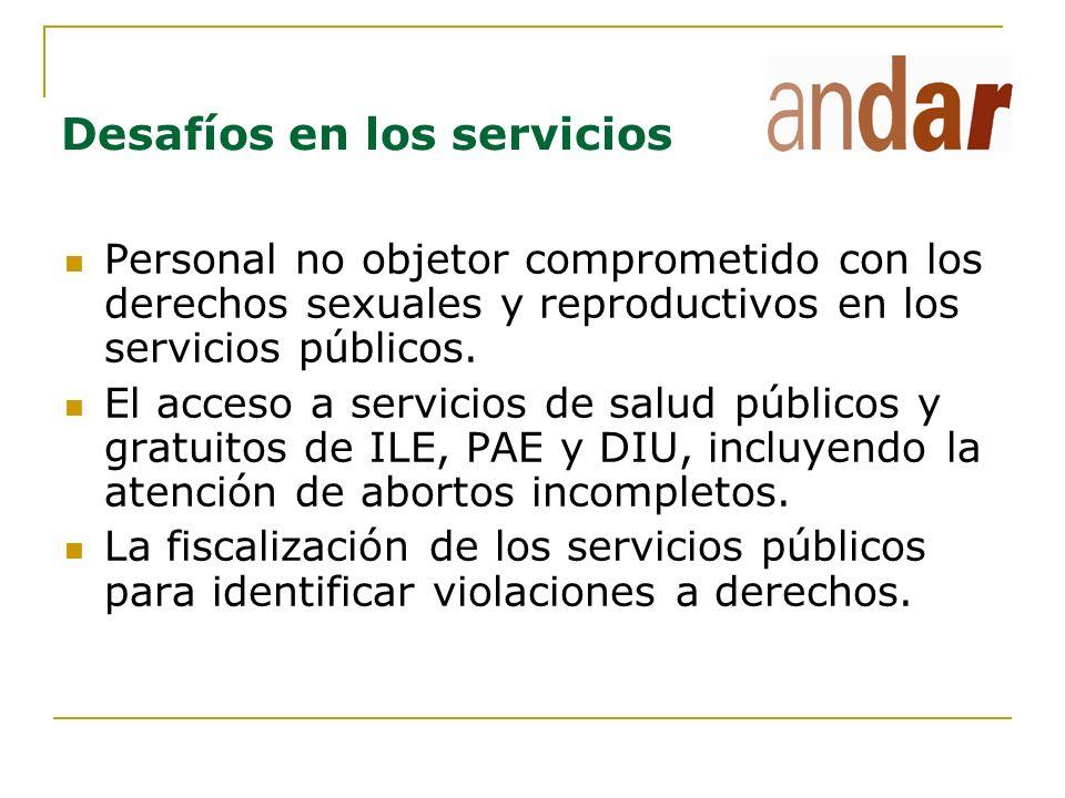 Desafíos en los servicios de salud y procuración de justicia La OC a nivel institucional, no individual, tanto de servicios de salud como de Ministerios Públicos cuando se trata de la aprobación de un aborto por violación.