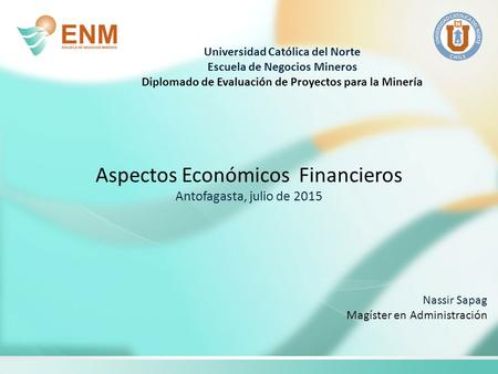 Aspectos Económicos Financieros