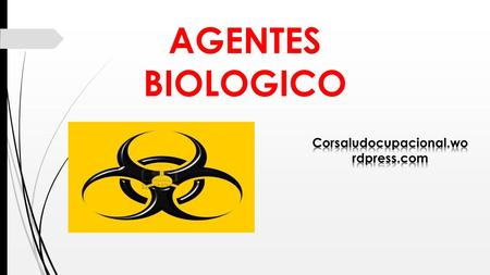 AGENTES BIOLOGICO Corsaludocupacional.wordpress.com.