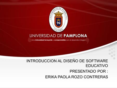 INTRODUCCION AL DISEÑO DE SOFTWARE EDUCATIVO