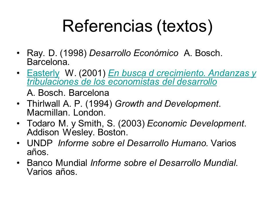 Para el repaso y consulta de conceptos: Esteve F., y Muñoz de Bustillo R.